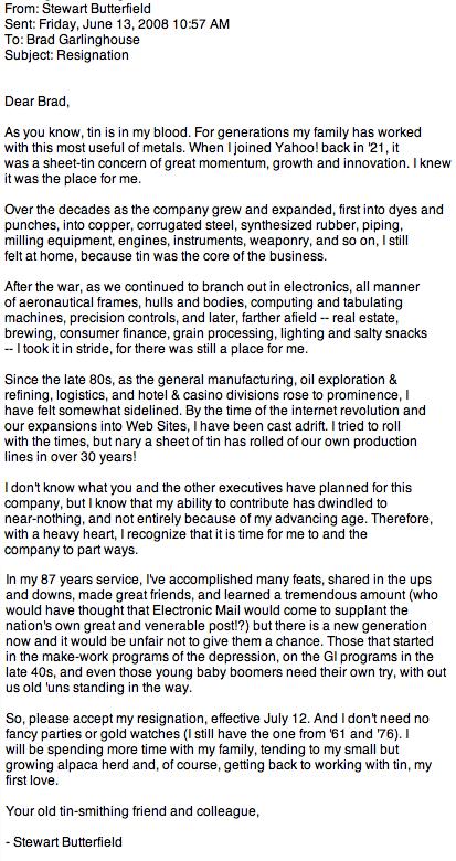 Flickr Founder Fires Off A Funny Resignation Letter
